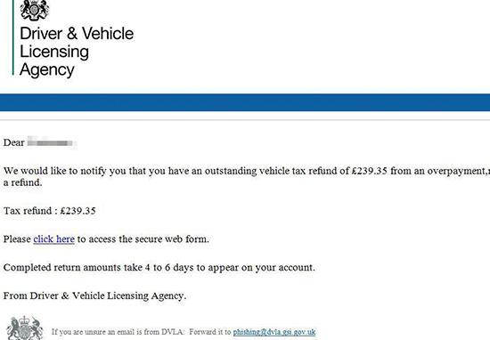 If You Receive This Email From The DVLA, Delete It Immediately