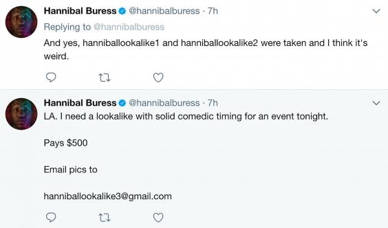 Hannibal Buress Sends Random To Spider Man Premiere In His Place, No One Noticed hannibal buress twitter
