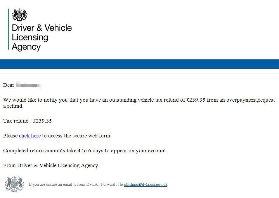 If You Receive This Email From The DVLA Delete It Immediately twitter