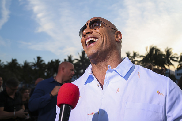 dwayne johnson rock people's champion baywatch premiere