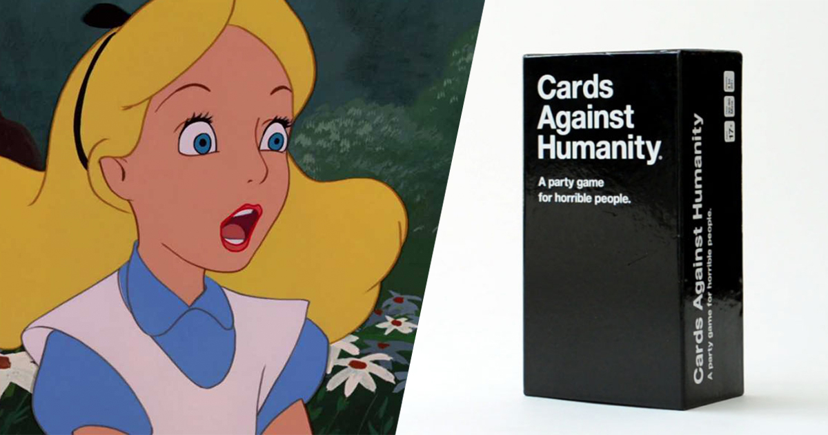 disney cards against humanity soon to be released. Black Bedroom Furniture Sets. Home Design Ideas