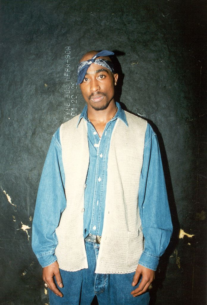A portrait of Tupac Shakur