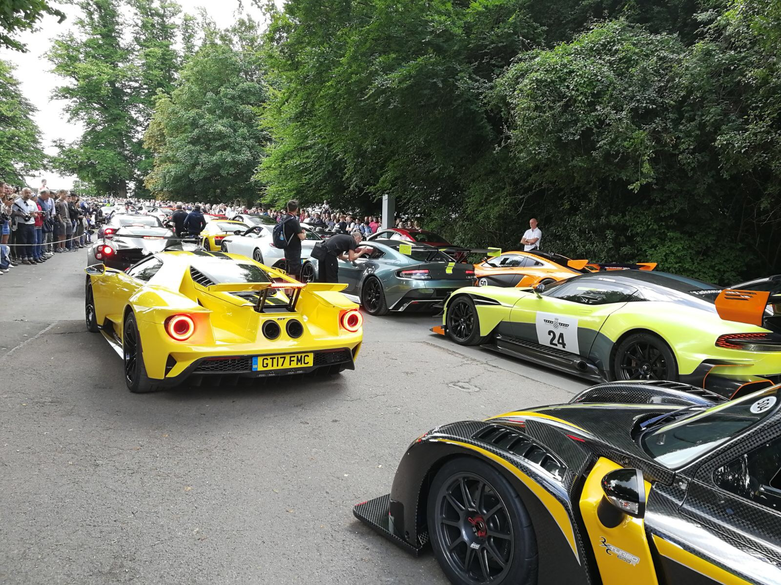 Ford Gt And Mustang Gt At The  Goodwood Festival Of Speed Img