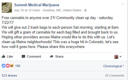 These People Will Give You Free Weed If You Clean Up The Streets Maine