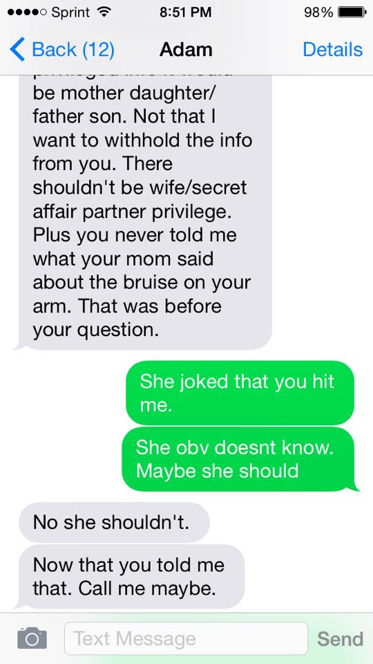 Abused Woman Shares Chilling Texts From Her Husband QSFYIhW