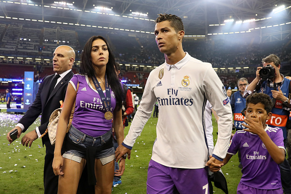 Cristiano Ronaldo on the pitch