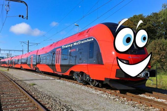 Public Vote Results In Train Being Named Trainy McTrainface trainy mctrainface