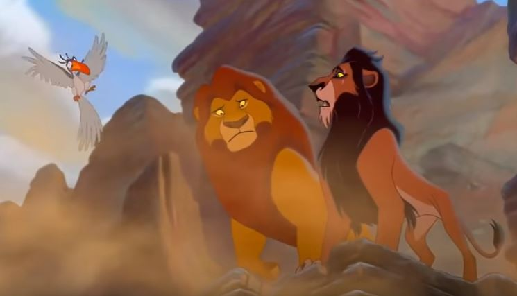 Mufasa and Scar in The Lion King