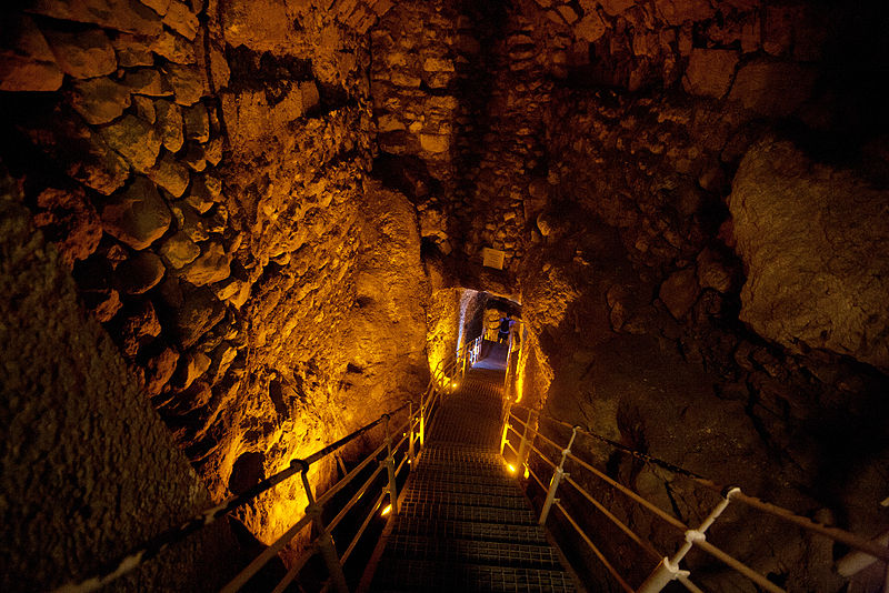 A Major Bible Event Has Been Proven True By Scientists City of David tunnel stairs