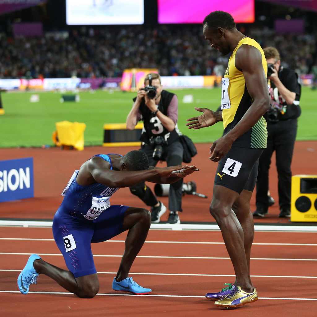 Justin Gatlin Reveals What Usain Bolt Told Him After 100m Final Win