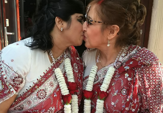 Hindu And Jewish Women Marry In Britain's First Interfaith Lesbian Wedding