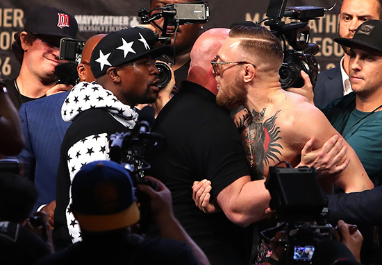 Floyd Mayweather Warns Conor McGregor Whatll Happen If He Kicks Him MAYWEATHER WEB THUMB 1