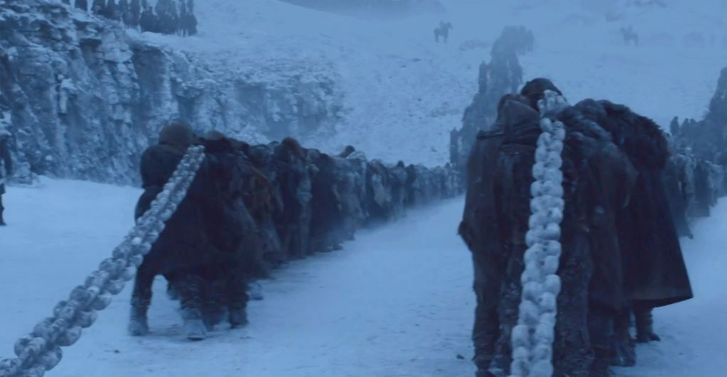 Heres Where The Night King Got Those Chains In This Weeks Game Of Thrones beyond the wall
