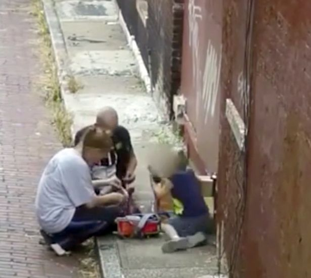 Grim Footage Shows Mum 'Injecting Heroin' As 4-Year-Old