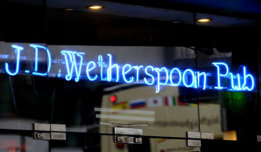 Wetherspoons Are Banning People From Charging Phones In Their Pubs wetherspoons sign