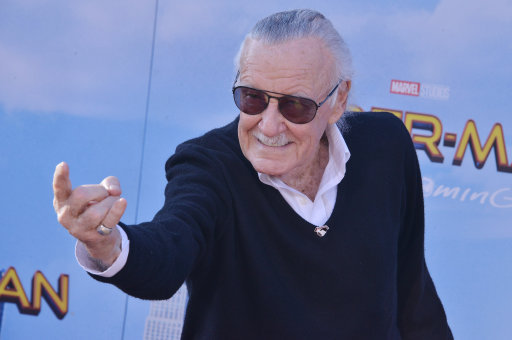 "Stan Lee arrives at the ""Spider-Man: Homecoming"""