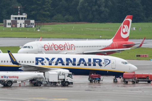 airplanes ryanair air berlin
