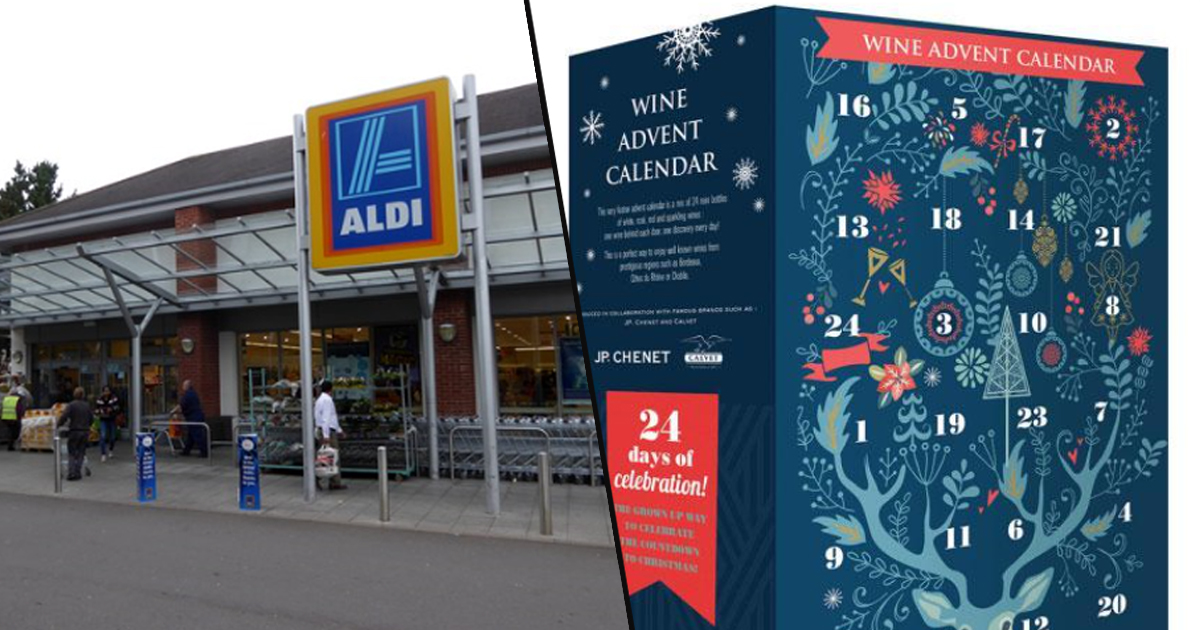 aldi selling wine advent calendar and it 39 s ridiculously cheap. Black Bedroom Furniture Sets. Home Design Ideas