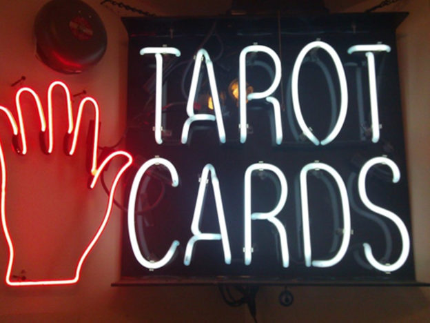 Going To A Psychic Can Be Strangely Comforting When Youre Feeling Vulnerable Neon Tarot 624x468