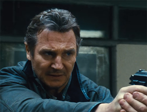 Liam Neeson as Bryan Mills in Taken