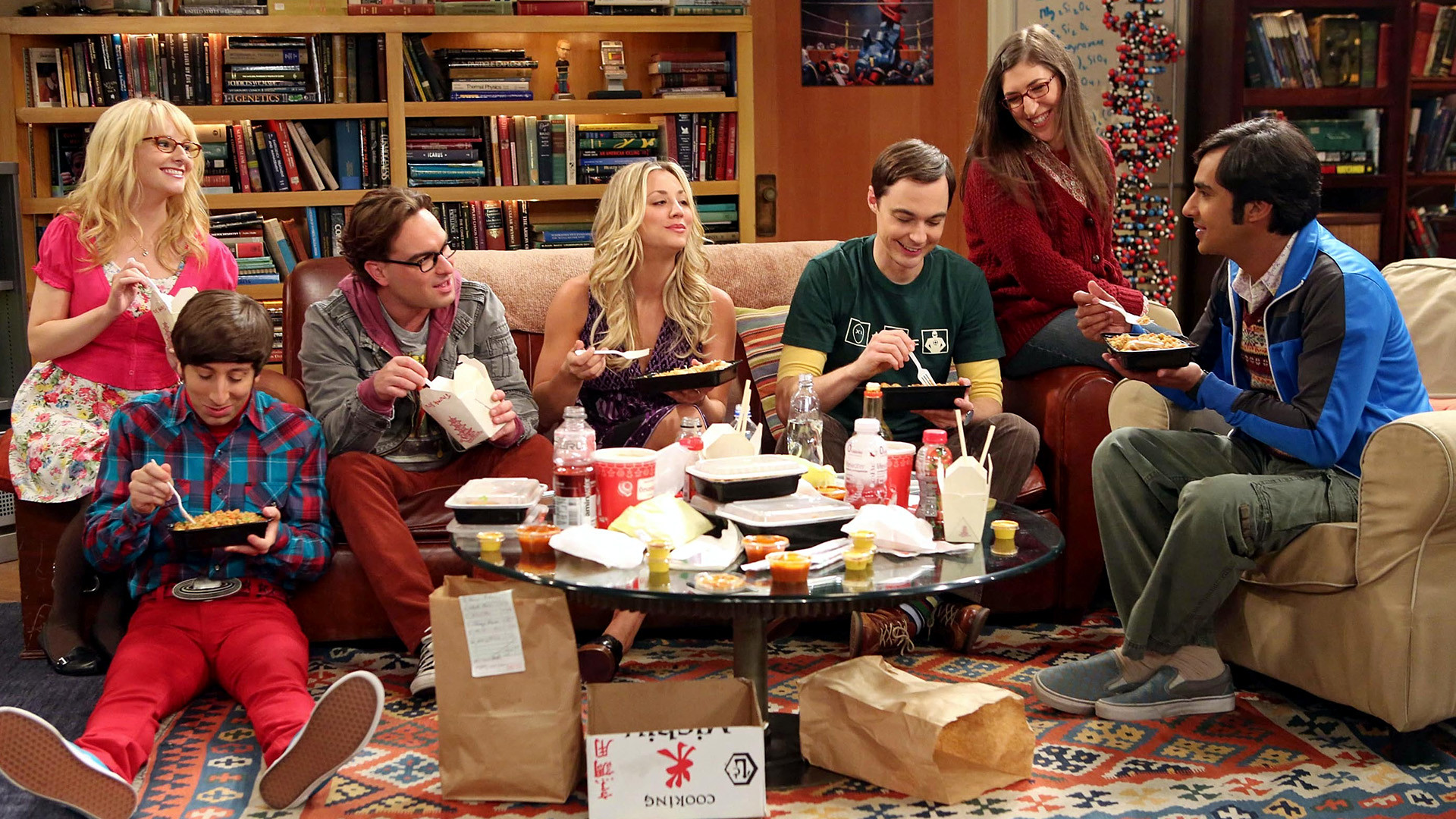 The Big Bang Theory stars on set