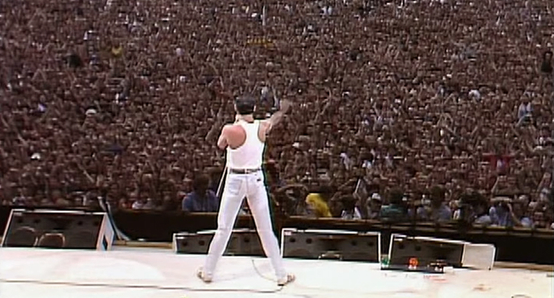 Leaked Footage Of Rami Malek Shows Hell Be An Amazing Freddie Mercury freddie mercury live aid 2