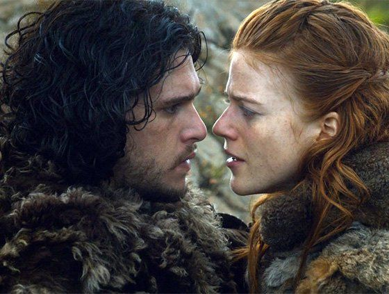 John Snow and Ygritte in Game Of Thrones