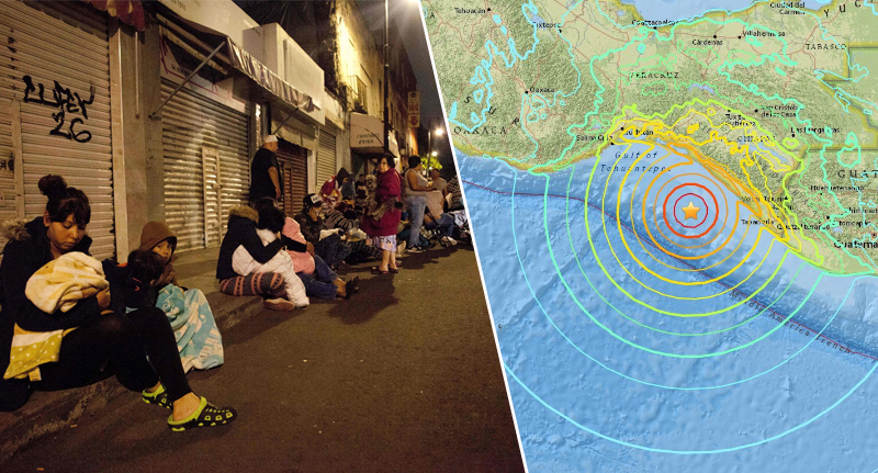 Risultati immagini per Breaking: Massive 8.0 Earthquake Strikes Mexico's
