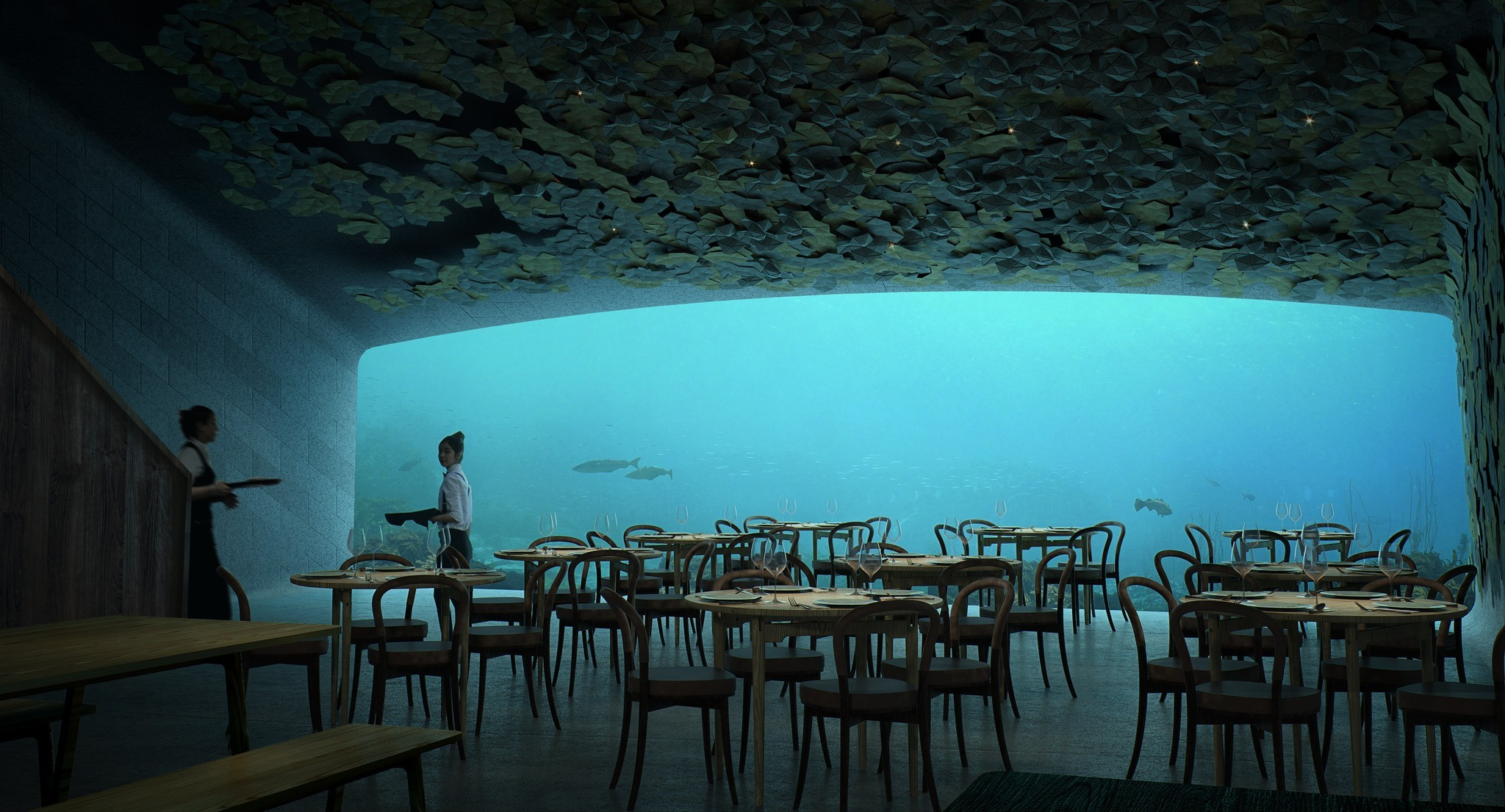 Europes First Underwater Restaurant Is Absolutely Breathtaking 32f5cf04f78cf24b6c437a1a7d813f54 2048w