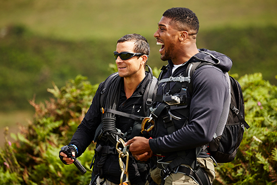 Bear Grylls Finds Out Anthony Joshuas Biggest Fear During Gruesome Challenge Bear AJ 2
