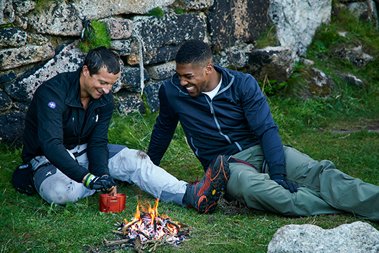 Bear Grylls Finds Out Anthony Joshuas Biggest Fear During Gruesome Challenge Bear AJ