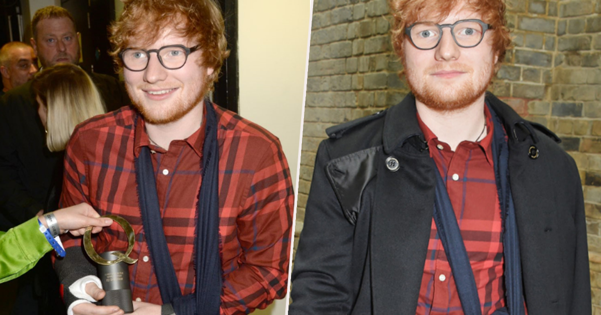Ed Sheeran Breaches Royal Protocol While Receiving MBE Ed Sheeran Sling B