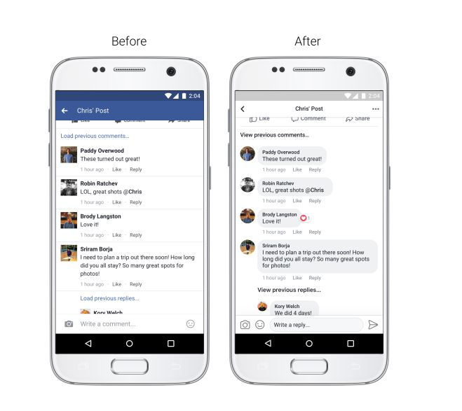 how to change like on facebook messenger