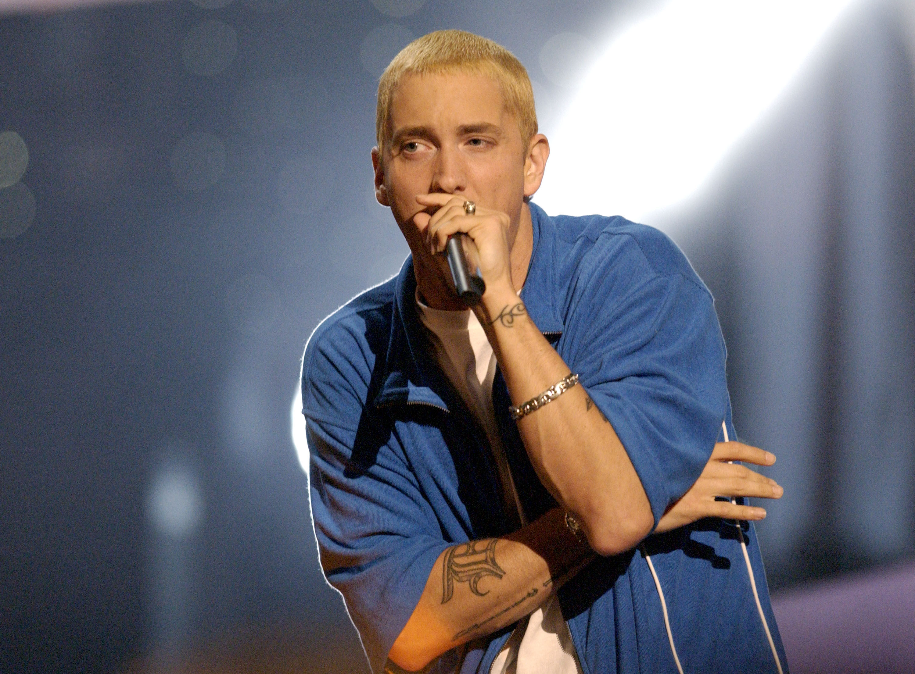 Eminem performs at the 2002 MTV Movie Awards