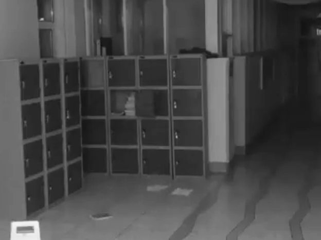 School CCTV Camera Captures Terrifying Ghost In Hallway Locker door 1 624x468
