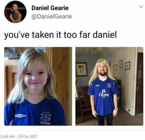 Man Who Dressed As Madeleine McCann Responds To Massive Backlash TWEET