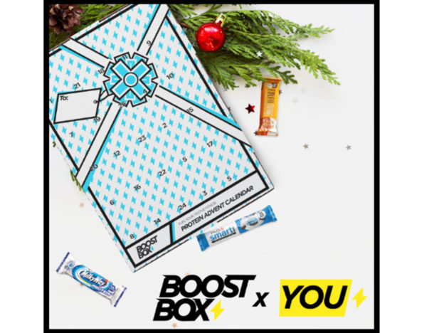 Protein Advent Calendar Is Perfect For The Gym Lover In Your Life boosted festive 624x468