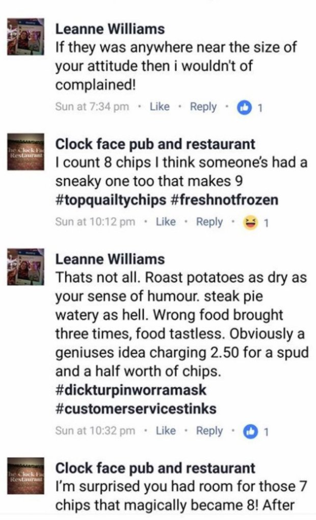 Woman Complains After Being Charged £2.50 For Seven Chips chippies