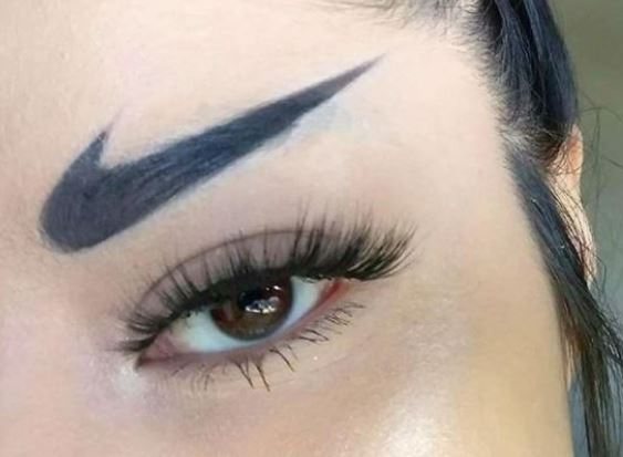 Nike Swoosh Eyebrows Are A Thing, And I For One Welcome Nuclear War eyebrow web