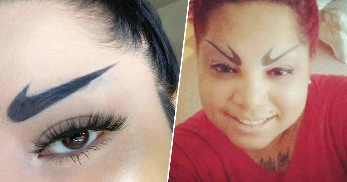 Nike Swoosh Eyebrows Are A Thing, And I For One Welcome Nuclear War