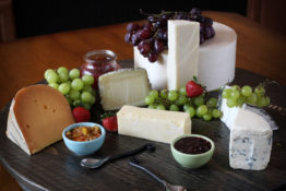 A traditional cheese board