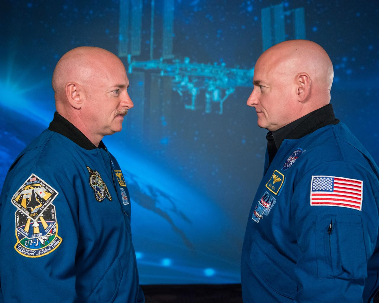 NASA Sent An Identical Twin To Space For A Year And He Changed Drastically scott kelly face to face nasa
