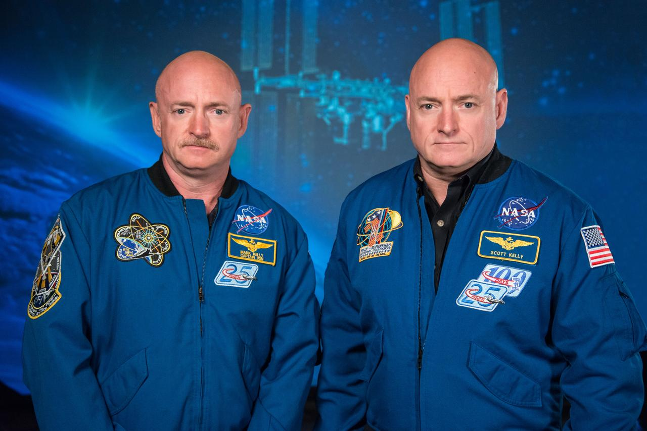 NASA Sent An Identical Twin To Space For A Year And He Changed Drastically scott kelly twin side by side nasa