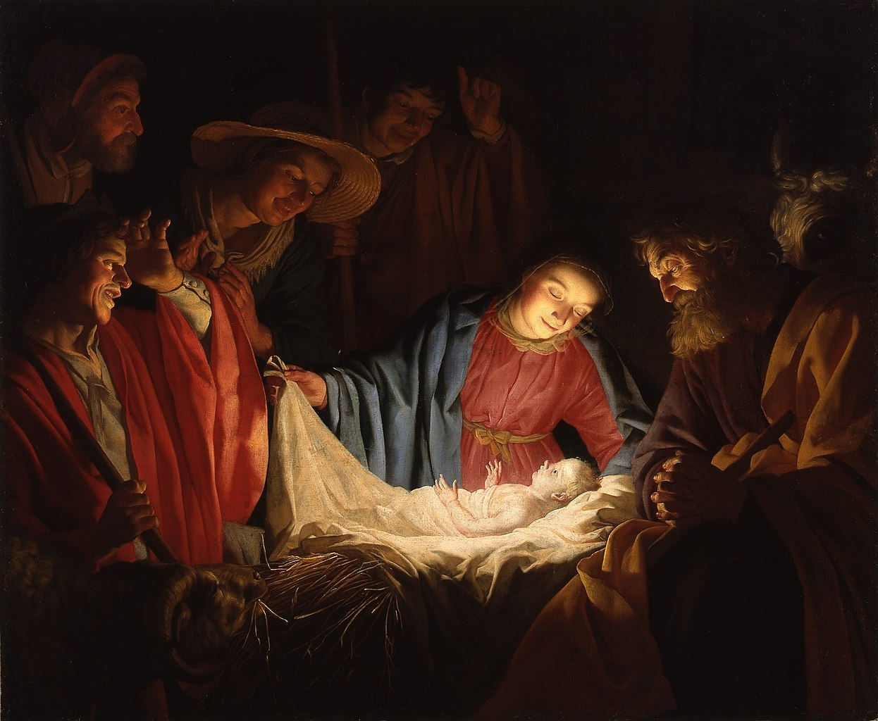 Were All Celebrating Christmas On The Wrong Day 1246px Gerard van Honthorst   Adoration of the Shepherds 1622