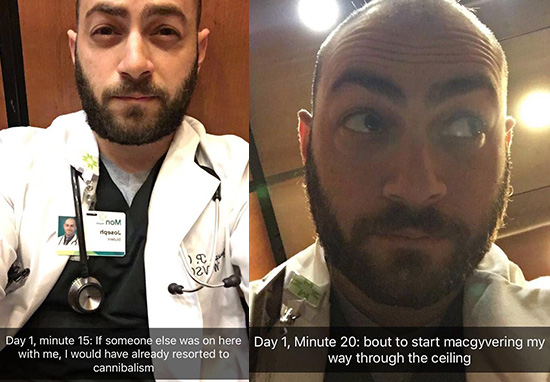 Doctor Stuck In Lift Goes Viral Thanks To Sensational Snapchat Story 20 mins