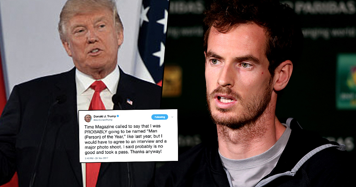 Andy Murray Hilariously Savages Donald Trump In One Tweet 9012k