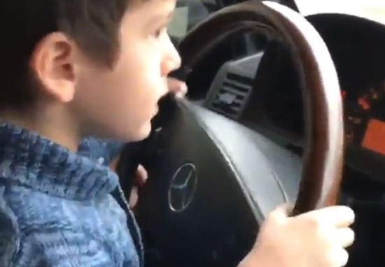 Four Year Old Boy Filmed Driving SUV At 60mph On Busy Highway Boy3