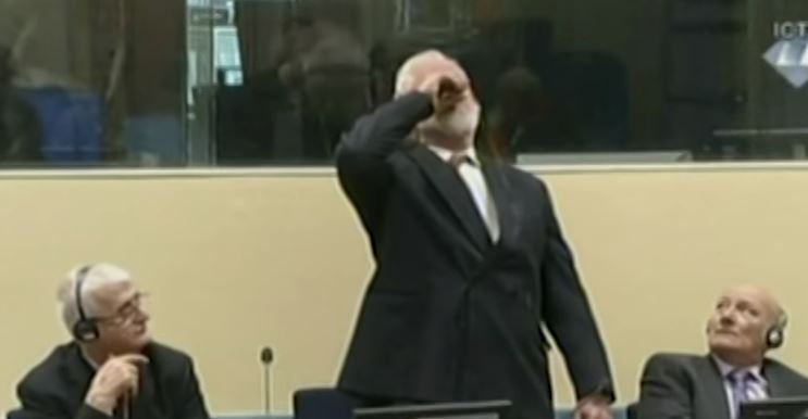 War Criminal Dies After Drinking Poison In Court