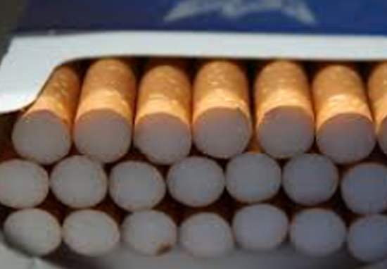 cigarette butts in packet