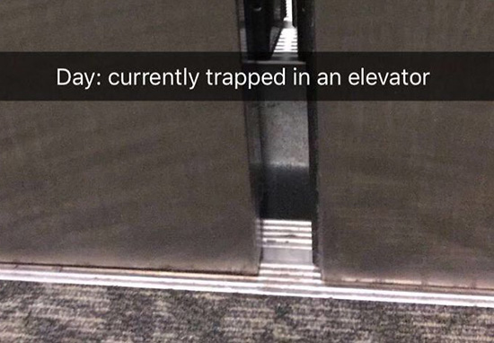Doctor Stuck In Lift Goes Viral Thanks To Sensational Snapchat Story Day 1 Lift